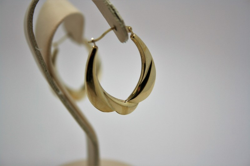 FASHION STYLE HOOPS 10K YELLOW GOLD