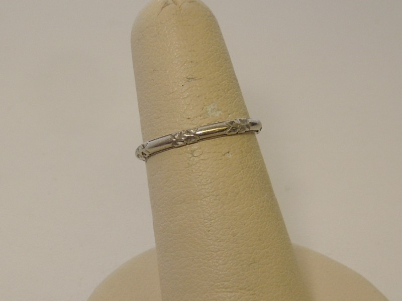 Antique Lady's Platinum Wedding Band 999 Platinum 2.46g Size:6