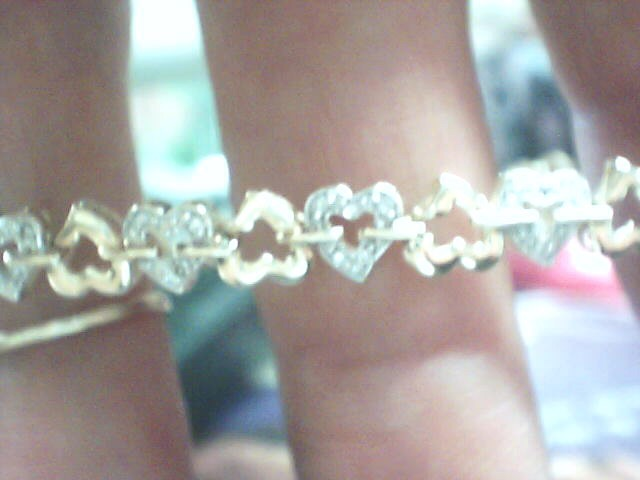 Gold-Diamond Bracelet 62 Diamonds .310 Carat T.W. 10K Yellow Gold 3.7dwt