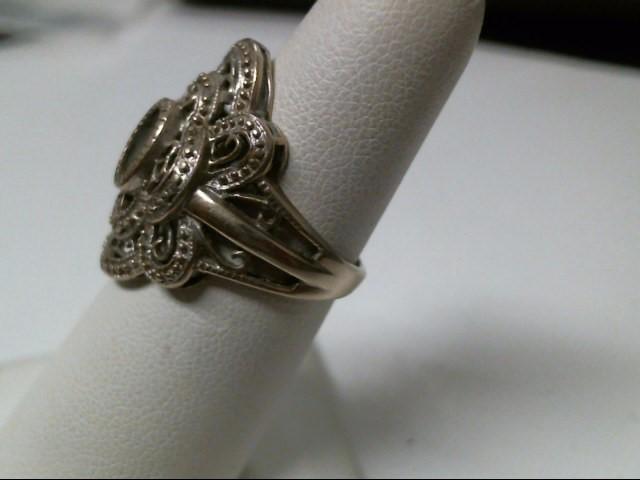 Blue Stone Lady's Stone Ring 10K White Gold 4.6g
