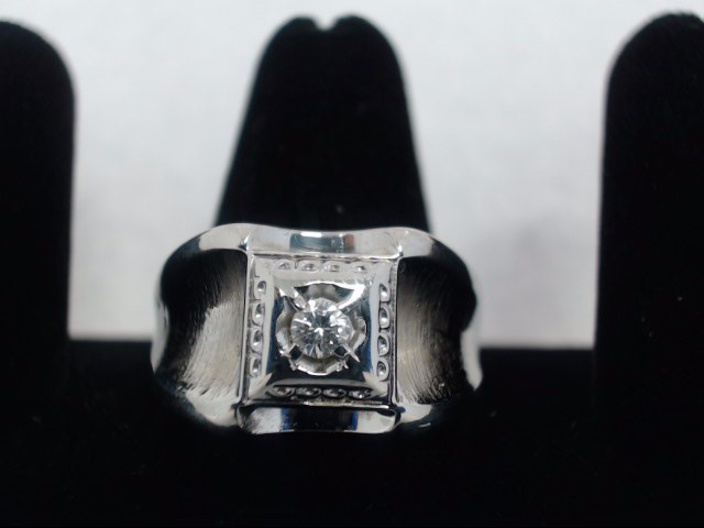 Gent's Diamond Fashion Ring .10 CT. 14K White Gold 6.2g