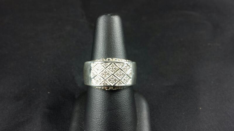 Designer Michael Dawkins CZ SZ Silver Lady's Ring