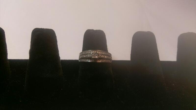Lady's Diamond Engagement Ring 70 Diamonds 1.04 Carat T.W. 10K White Gold 3.9g