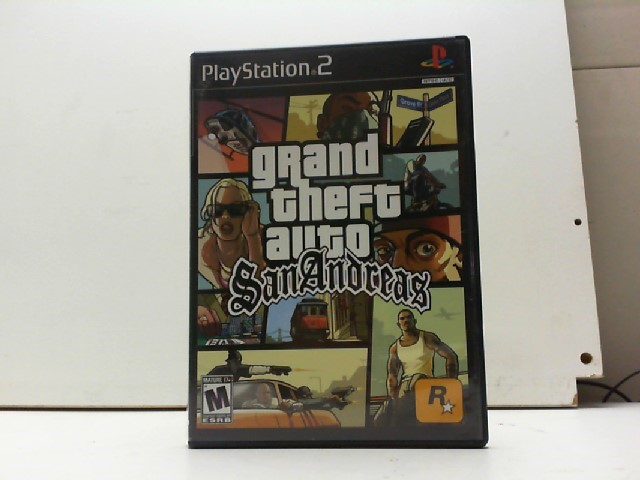 SONY Sony PlayStation 2 Game GRAND THEFT AUTO SAN ANDREAS