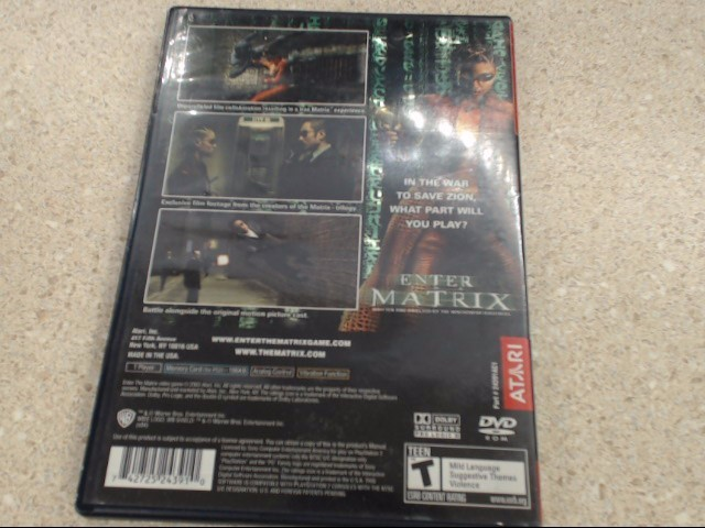 ENTER THE MATRIX - PLAYSTATION 2 GAME