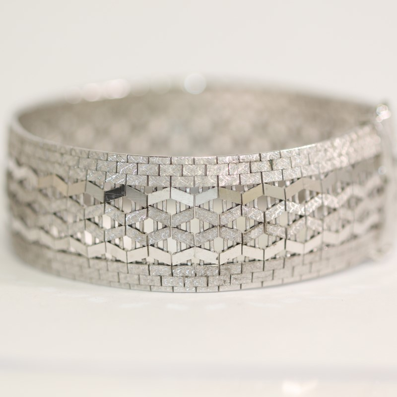"Beautiful Lady's Silver Bracelet .925 39.8g 7 1/2"" Wrist"