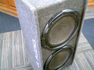 "SONY GS 2X12"" SUBS IN BOX"