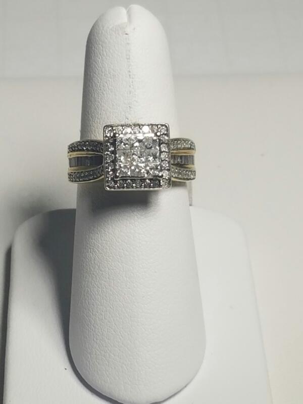 L'S 10KT Lady's Diamond Cluster Ring DIAMOND 59 Diamonds .68 Carat T.W.