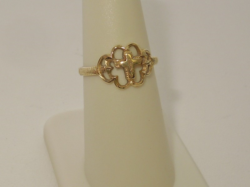 Lady's Gold Ring 14K Yellow Gold 1.8g
