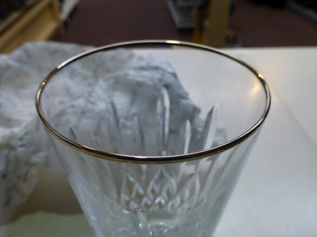 Waterford Crystal Platinum Trim Tall Iced Beverage Glass 14oz