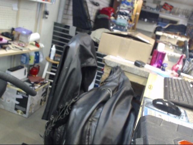 FMC TECHNOLOGIES Coat/Jacket BLACK LEATHER VEST