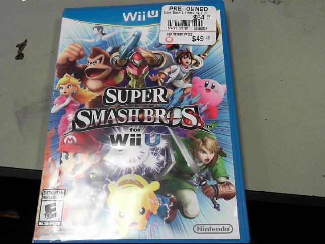 NINTENDO Nintendo Wii U Game SUPER SMASH BROS FOR WII U
