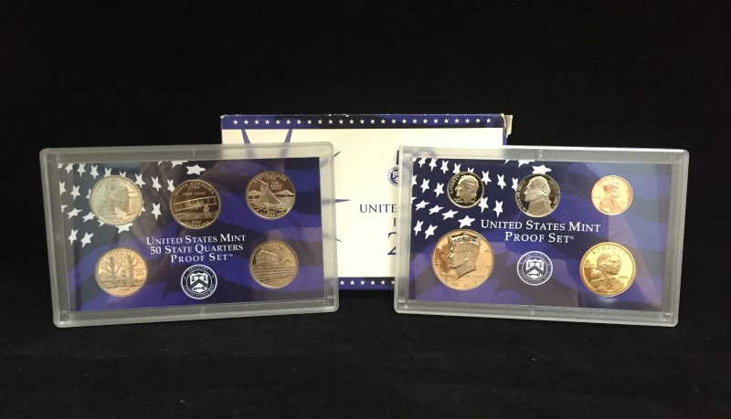 2001 United States Mint Proof Set 50 State Quarter w Certificate of Authenticity