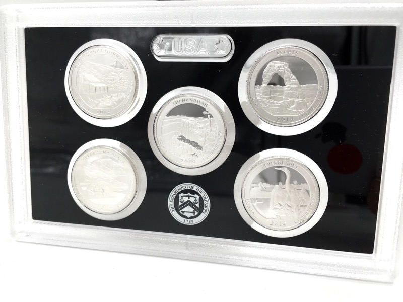 2014 United States Mint Silver Proof Set - With Box & COA