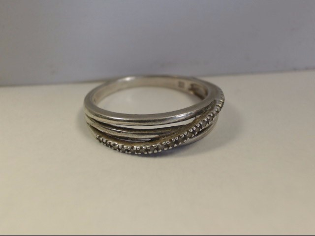 Lady's Silver Ring 925 Silver 2.3g Size:8