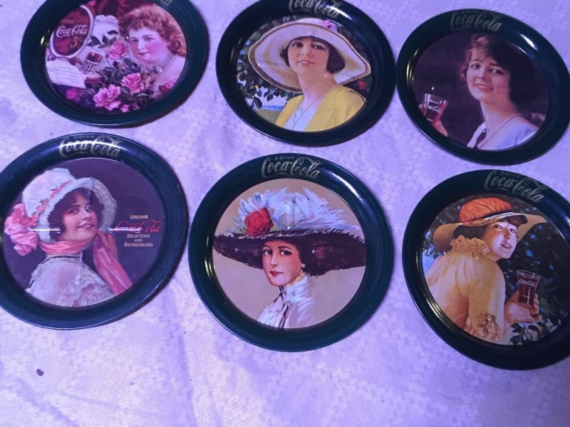 COCA COLA 6 DIFFERENT DESIGNS COASTERS #8021