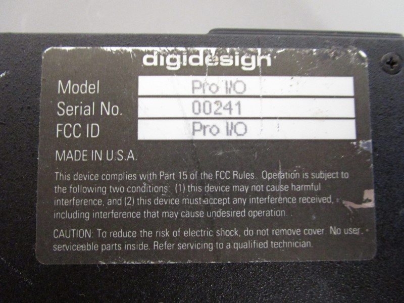 DIGIDESIGN PRO I/O PROFESSIONAL ANALOG INTERFACE