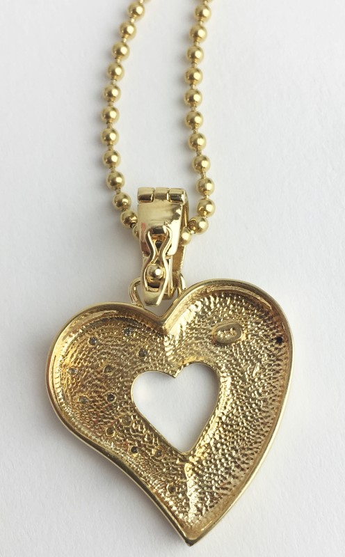 Diamond Pavee Heart  18K Yellow Gold 14.1g