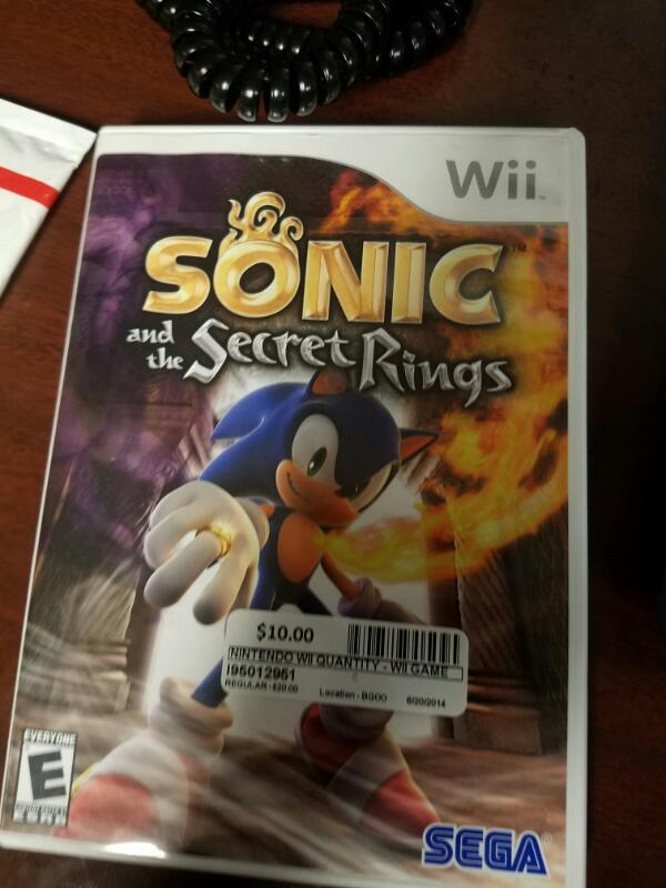NINTENDO Nintendo Wii Game WII SONIC AND THE SECRET RINGS