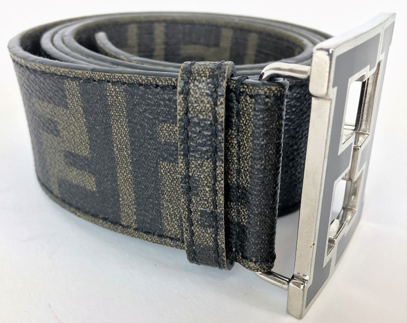 FENDI LOGO FADED BELT SZ 42