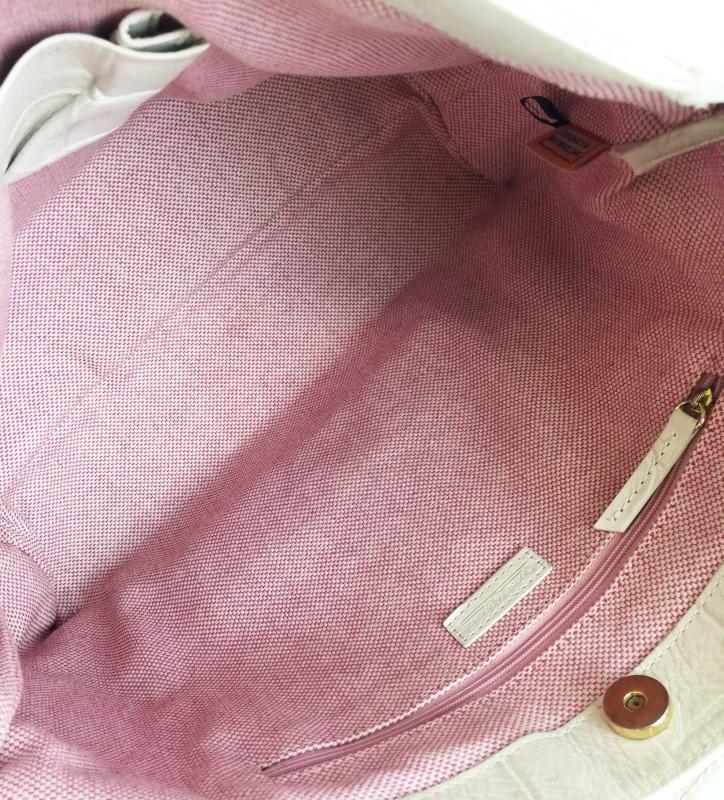 DOONEY & BOURKE SIGNATURE CROC EMBOSSED HOBO SHOULDER BAG