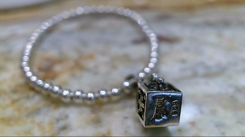 Silver Silpada Prayer Box with Cross Child Fashion Bracelet 925 Silver 5g