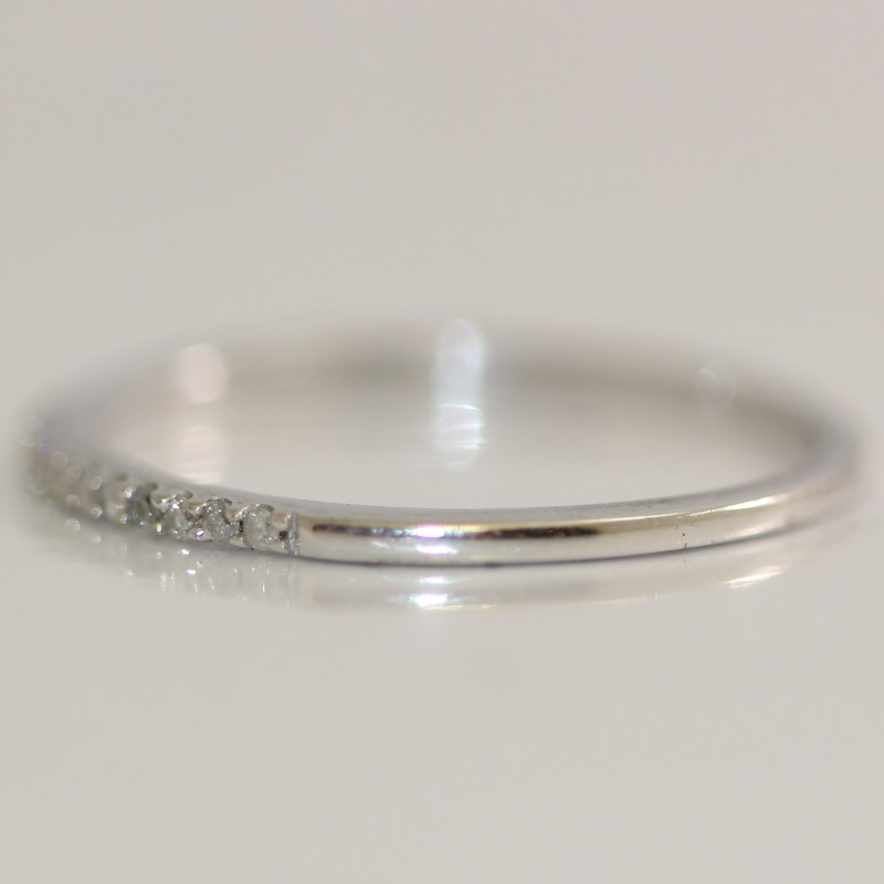 Sterling Silver Round Cut Diamond Ring Set Size 7