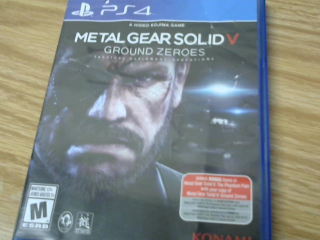 SONY Sony PlayStation 3 Game METAL GEAR SOLID V: GROUND ZEROES