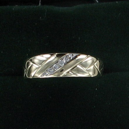 Gent's Gold Wedding Band 14K Yellow Gold 3.1dwt