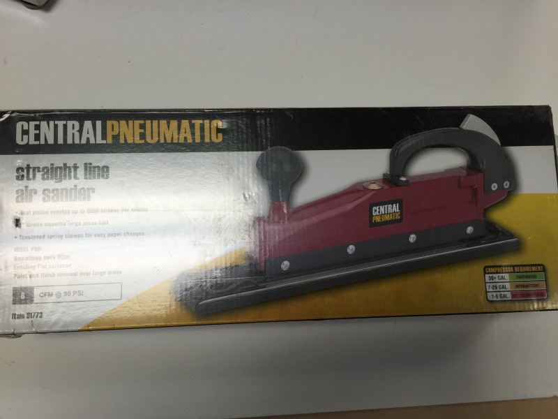 NEW! Central Pneumatic Straight Line Air Sander #91773