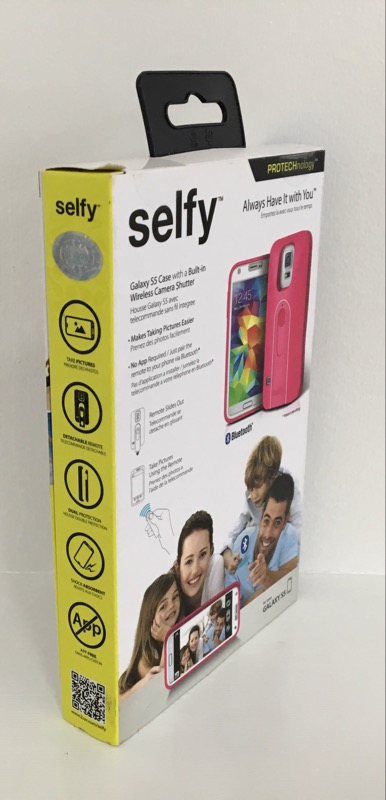 ILUV SELFY CASE WITH WIRELESS CAMERA SHUTTER - GALAXY S5 - PINK