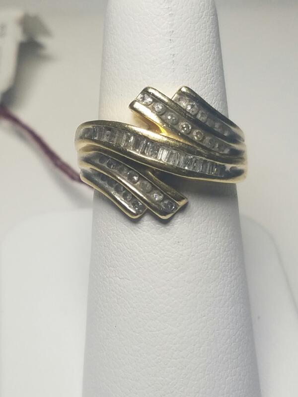 DIAMOND  FASHION RING L'S 14KT DIAMOND  3.1_DWT/YG