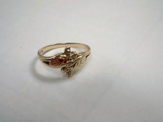 Lady's Diamond Fashion Ring 5 Diamonds .05 Carat T.W. 10K Yellow Gold 2.2g