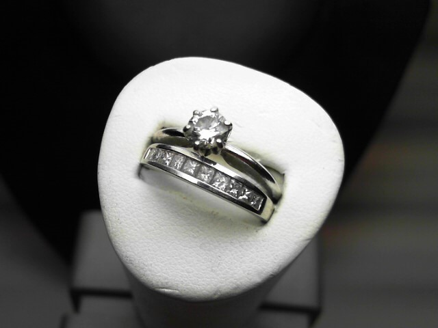 Lady's Diamond Wedding Set 11 Diamonds 1.00 Carat T.W. 14K White Gold 5.2g