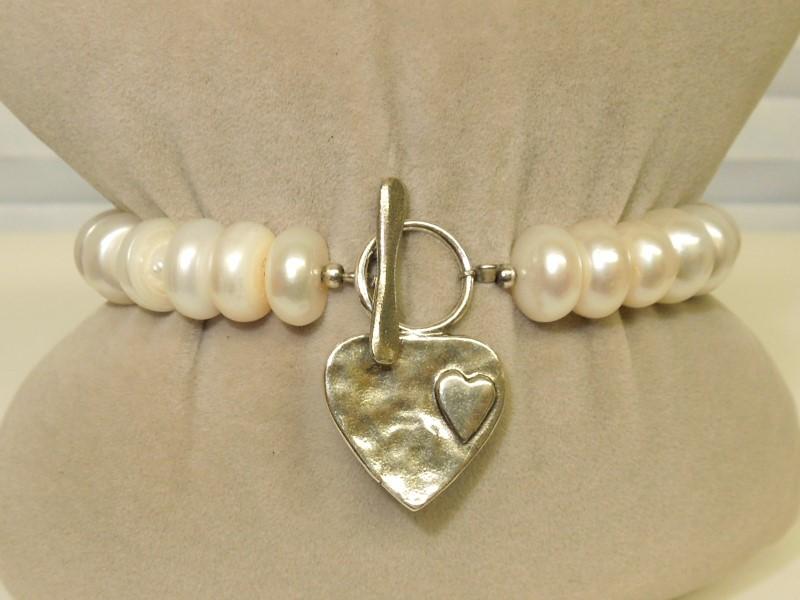 Pearl Silver-Stone Bracelet 925 Silver 28.3g
