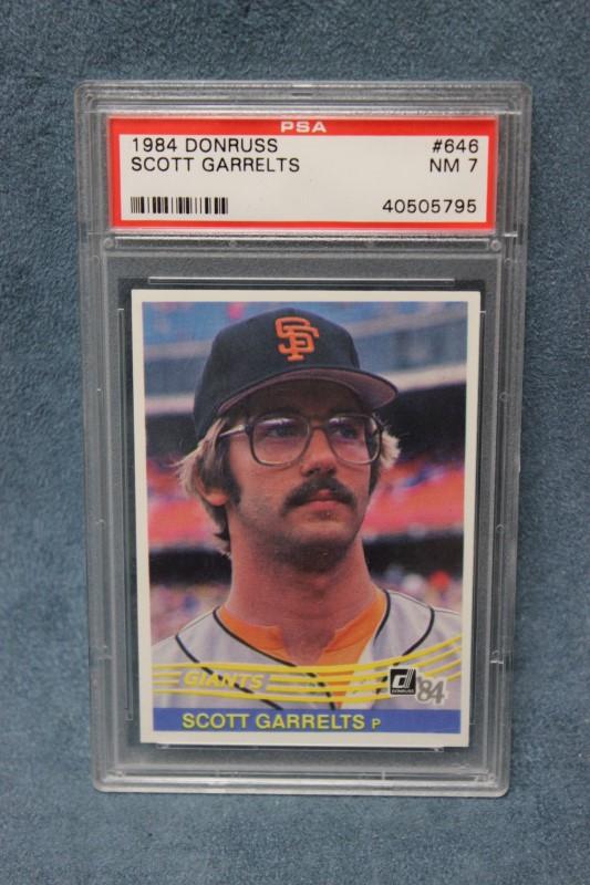 Scott Garrelts 1984 Donruss SF Giants #646 PSA NM 7