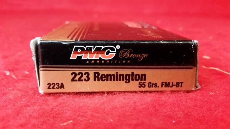 PMC Bronze 223 Remington 55gr FMJ-BT - 20 Rounds