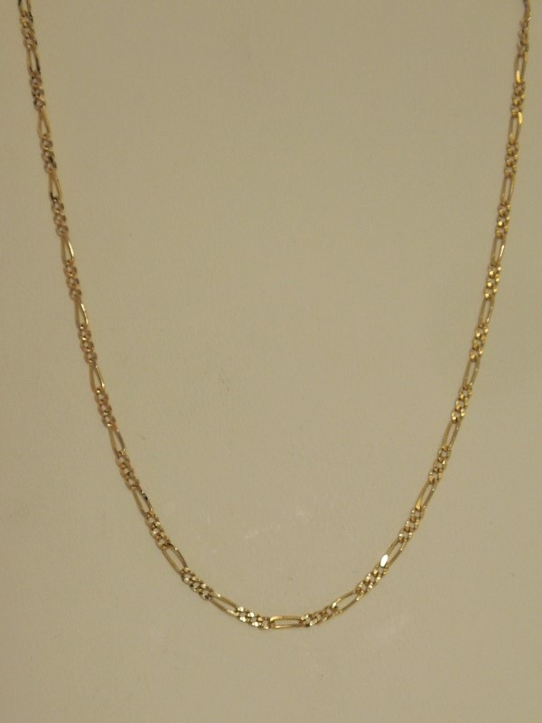Gold Figaro Chain 14K Yellow Gold 3.8g