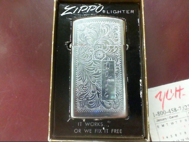 ZIPPO SLIM LIGHTER NO. 1610 HIGH POLISH