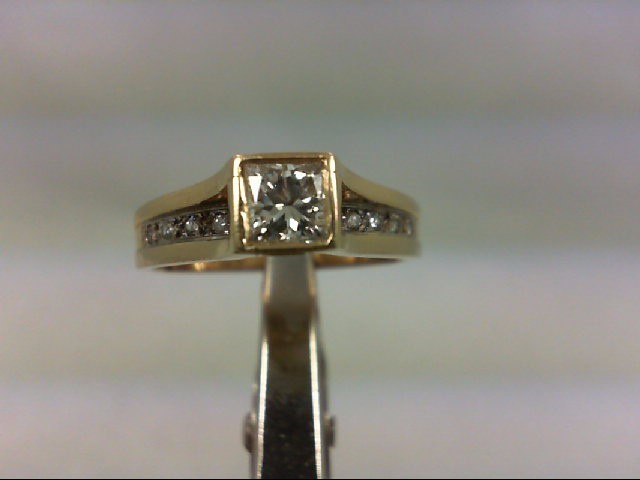 Lady's Diamond Engagement Ring 12 Diamonds .65 Carat T.W. 14K Yellow Gold 3.26g