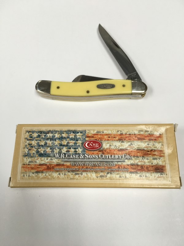 WR Case Yellow Stockman Triple Blade Folding Pocket Knife 00035 USA