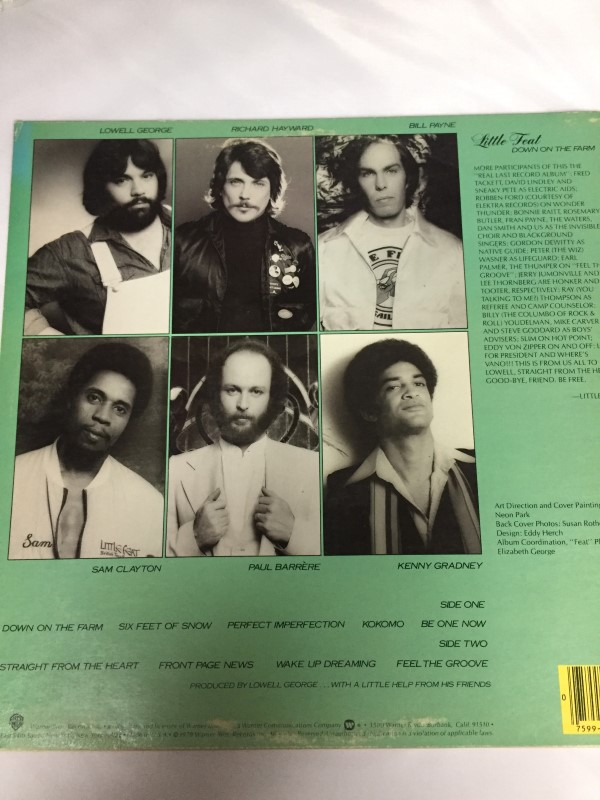 WARNER BROTHERS DOWN ON THE FARM/LITTLE FEAT RECORD