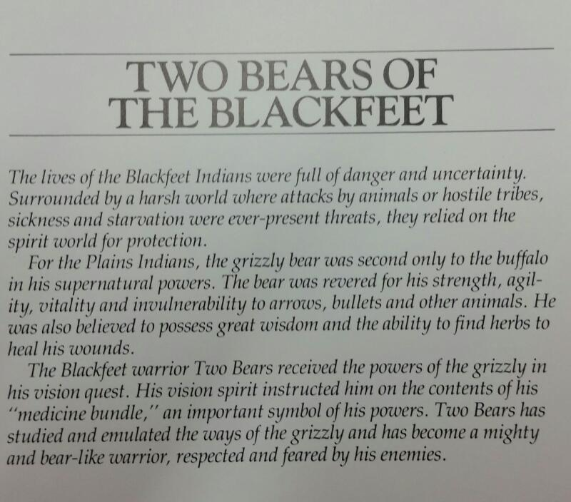 BEV DOOLITTLE Print TWO BEARS OF THE BLACKFEET