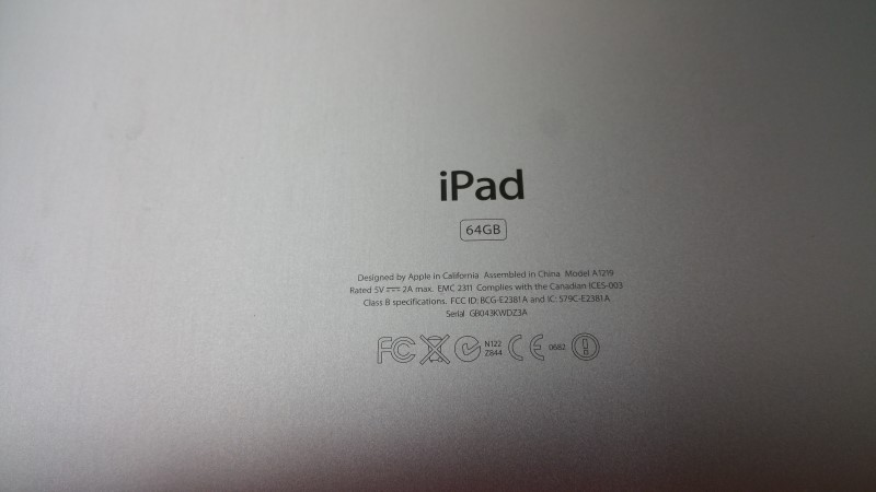 Apple Ipad 64GB - Model A1219