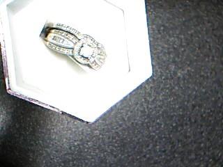 Lady's Silver-Diamond Ring 44 Diamonds .58 Carat T.W. 925 Silver 5.72g