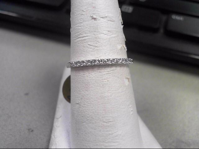 Lady's Diamond Wedding Band 13 Diamonds .26 Carat T.W. 14K White Gold 1.35g