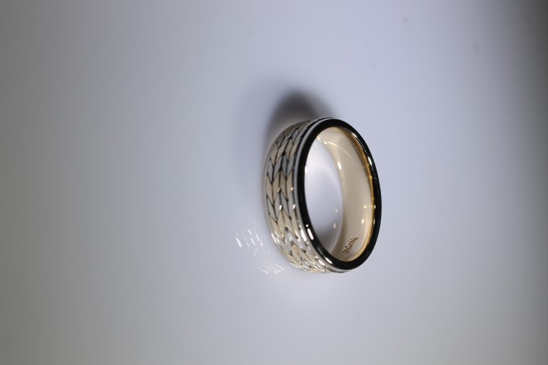 Gent's Gold Ring 14K 2 Tone Gold 9.8g