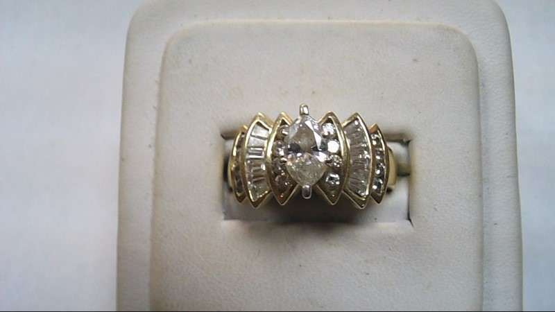 Lady's Diamond Cluster Ring 14K Yellow Gold