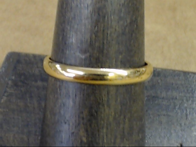 ESTATE CLASSIC PLAIN 2.9mm WED RING BAND SOLID REAL 14K GOLD SZ 8.75