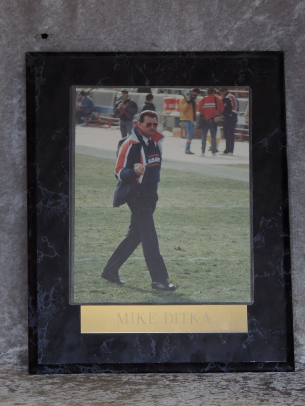 MIKE DITKA FLIPPING THE BIRD PICTURE PLAQUE